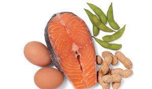 Рыба, бобовые, орехи, яйца